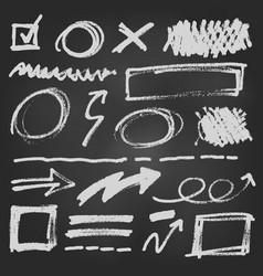 notebook doodle pen arrow set vector image vector image