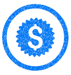 bank seal rounded grainy icon vector image