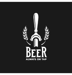 Beer always on tap advertising vintage vector image