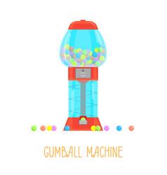cartoon gumball machine vector image vector image