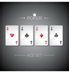casino with playing poker cards vector image