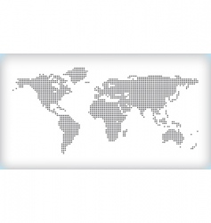 dotted map vector image