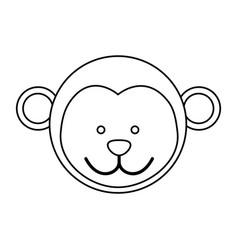 figure face monkey icon vector image