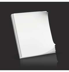 Journal on black vector image vector image