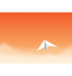 paper plane orangeth vector image vector image