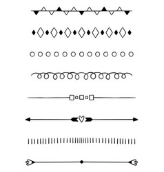 0004 hand drawn dividers vector