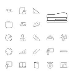 22 school icons vector