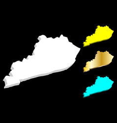 3d map kentucky vector