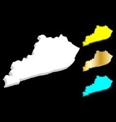 3d map of kentucky vector