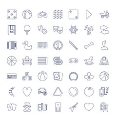 49 play icons vector