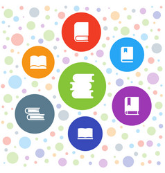 7 studying icons vector image