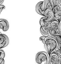 abstract wave hand-drawn pattern seamless texture vector image