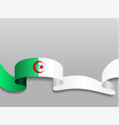 Algerian flag wavy abstract background vector