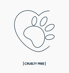 animal cruelty free logo vector image