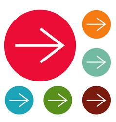Arrow icons circle set vector