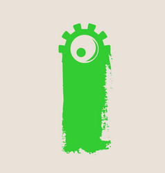 background with cartoon monsters eye vector image
