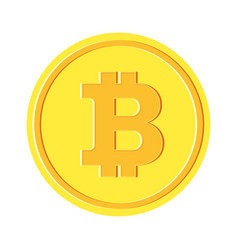 bitcon golden coin vector image