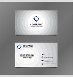 Black and white circle business card vector