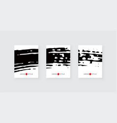 Black ink brush stroke on white background vector