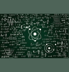 Blackboard inscribed with scientific formulas and vector