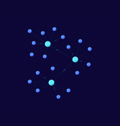 Blockchain platform 7 isometric vector