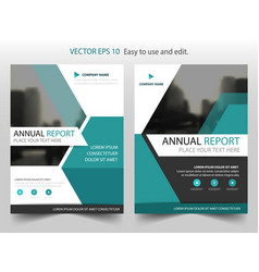Blue hexagon brochure annual report leaflet vector