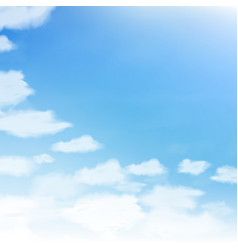 blue sky with clouds abstract blue background of vector image