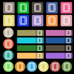 Book icon sign Set from twenty seven multicolored vector image