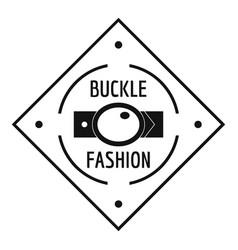 Buckle chrome logo simple black style vector