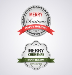 Christmas white vintage retro design style element vector image