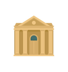 Courthouse institution icon flat style vector