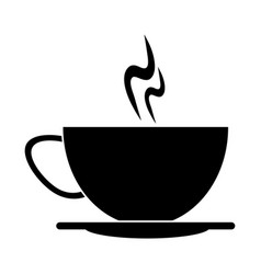 cup of coffee smoke hot pictogram vector image