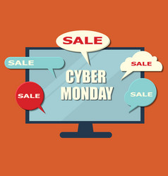 cyber monday concept banner vector image