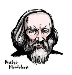 dmitri mendeleev vector image