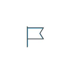 flag icon design essential icon vector image