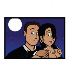 frightened couple vector image
