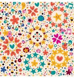 Fun cartoon pattern 11 vector