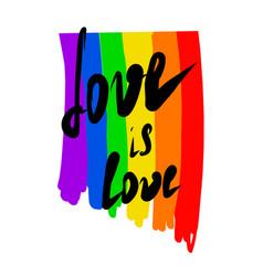 gay pride lgbt flag vector image