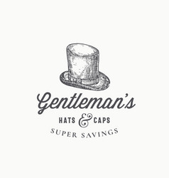 gentlemans top hat abstract sign symbol or vector image