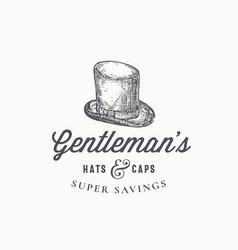 Gentlemans top hat abstract sign symbol or vector