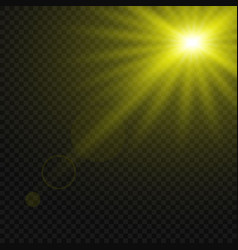 glowing light effect isolated vector image