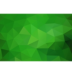 Green abstract geometric rumpled triangular vector