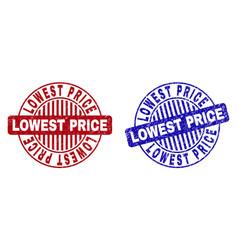 Grunge lowest price scratched round stamp seals vector