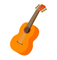 guitar icon isometric style vector image