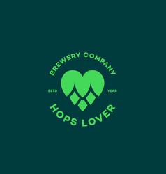 Hops lover logo vector