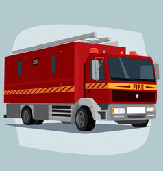 Isolated fire engine car vector