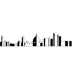 isolated florence cityscape vector image