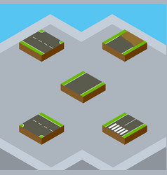 Isometric road set of rightward unfinished vector