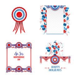 july fourth elements vector image