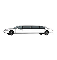 limousine technical draw vector image